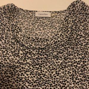 Calvin Klein black cheetah print blouse